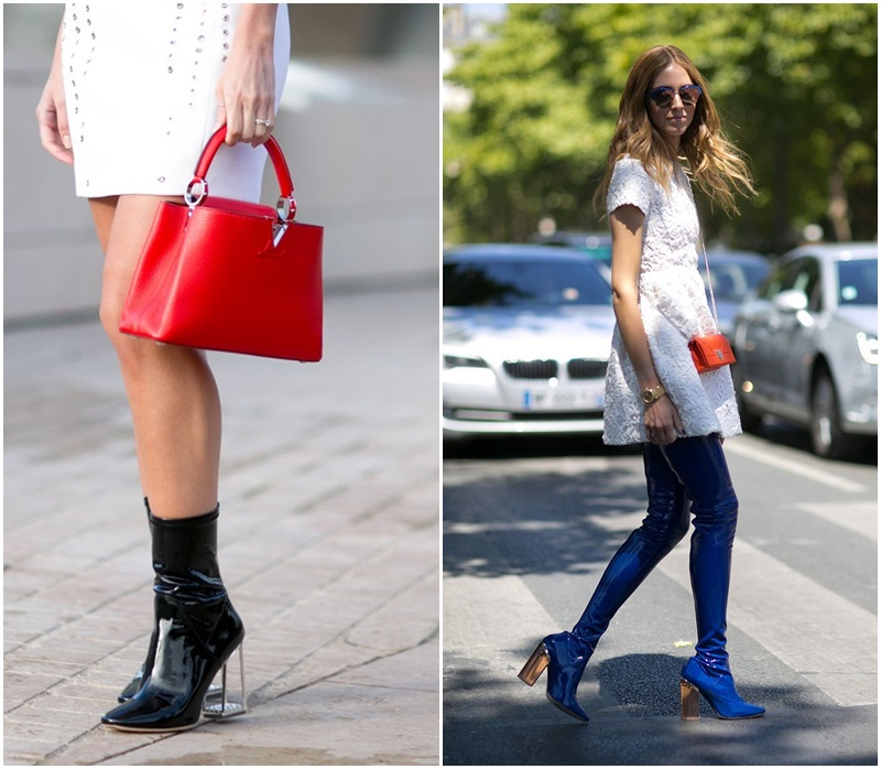 How did latex boots become chic at FTG