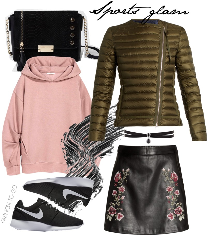 How to wear quilted puffer jacket - sports glam by FTG