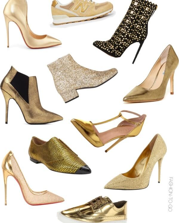 Gold shoes trend by FashionToGo1