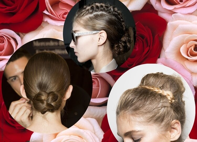 Braided updo trend by ftg