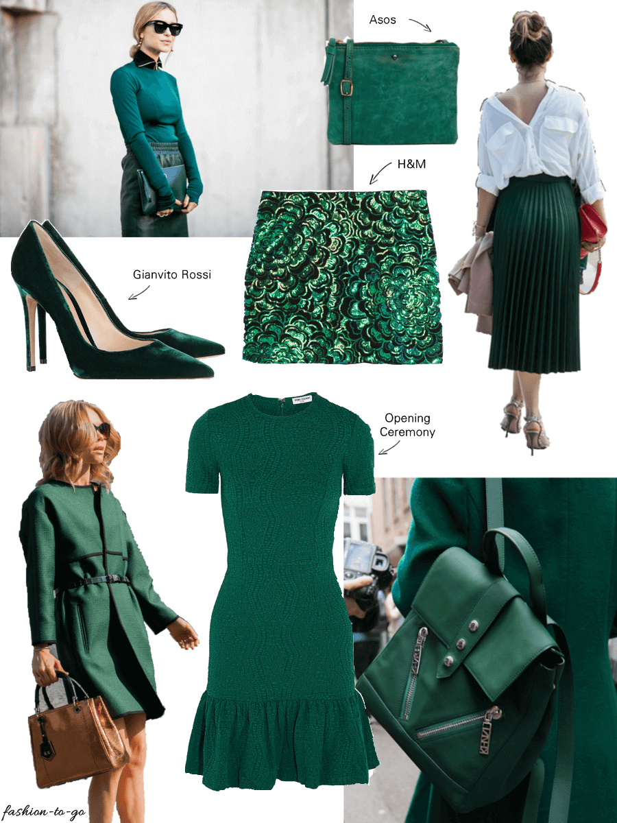 It Color Dark Green Collage By Http Www Fashiontogo Ftg