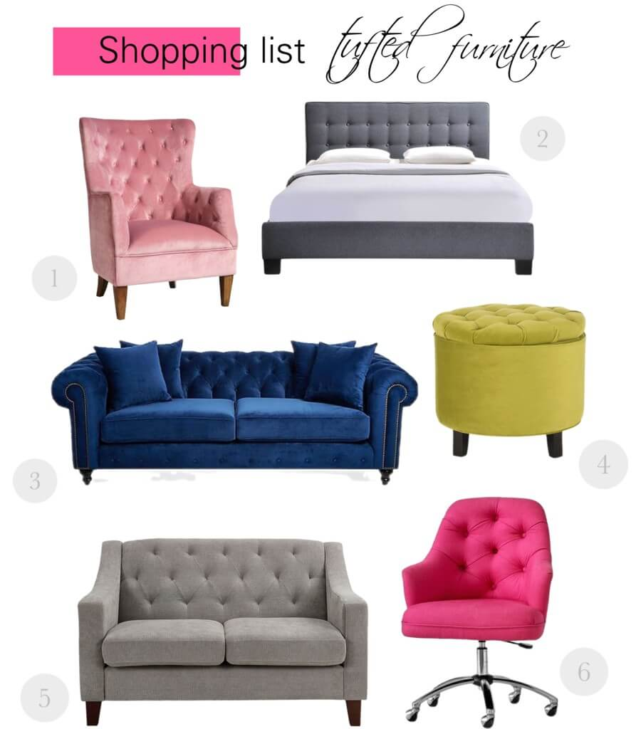 Luxe Home Decor Tufted Furniture Ftg Magazine Fashion
