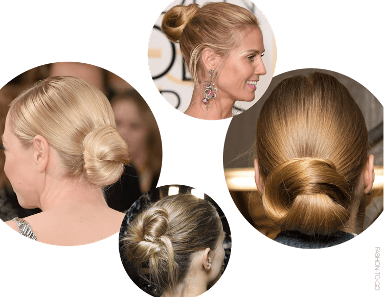 Hair knots fw2015 backstage at http://www.fashiontogo-ftg.com/mini-trend-hair-knot/