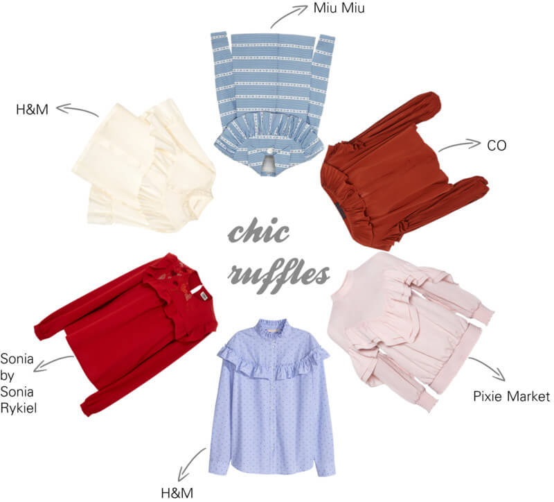 Best of ruffles blouse shopping at FTG: http://www.fashiontogo-ftg.com/all-eyes-on-ruffled-blouse/