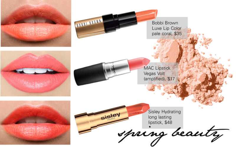 Spring beauty trend color lips by FTG: http://www.fashiontogo-ftg.com/spring-beauty-coral-lipstick/