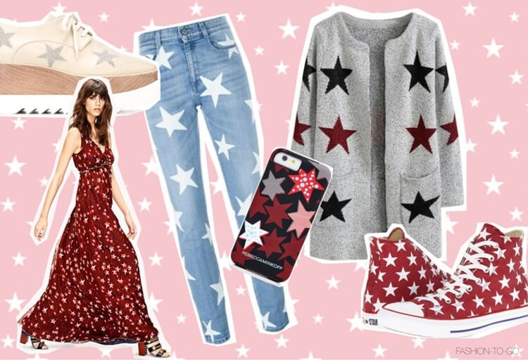 Shopping guide: Star-print trend  spring 2016 by FTG: http://www.fashiontogo-ftg.com/top-16-stars-inspired-spring-items/