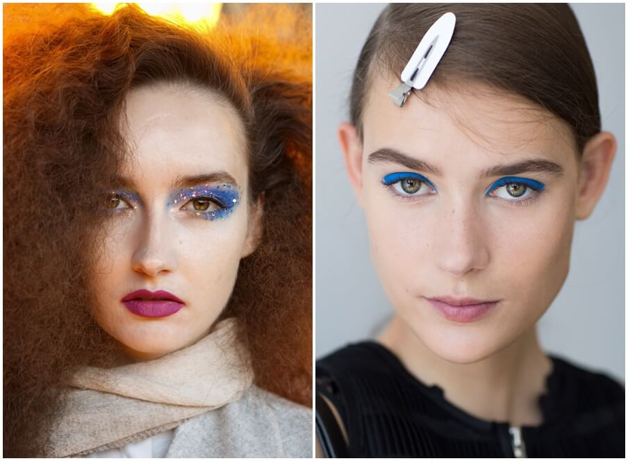 Blue eye makeup spring 2016 beauty trends by FTG: http://www.fashiontogo-ftg.com/are-you-ready-for-some-bright-colors/