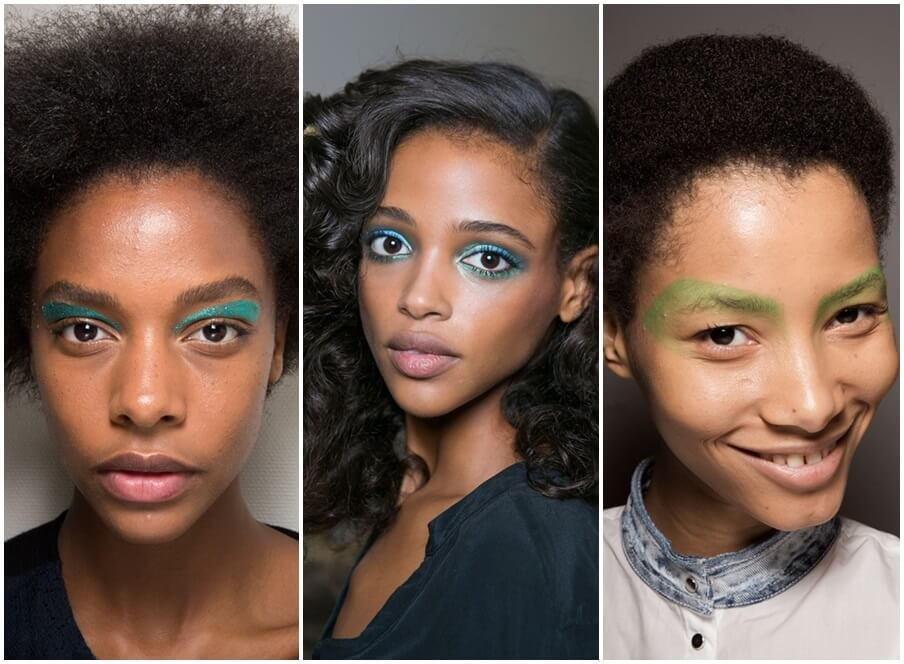 Green blue eye makeup spring 2016 beauty trends by FTG