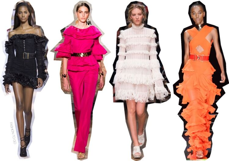 Spring summer 2016 trends - ruffles by FTG: http://www.fashiontogo-ftg.com/ss16-trends-ruffles/
