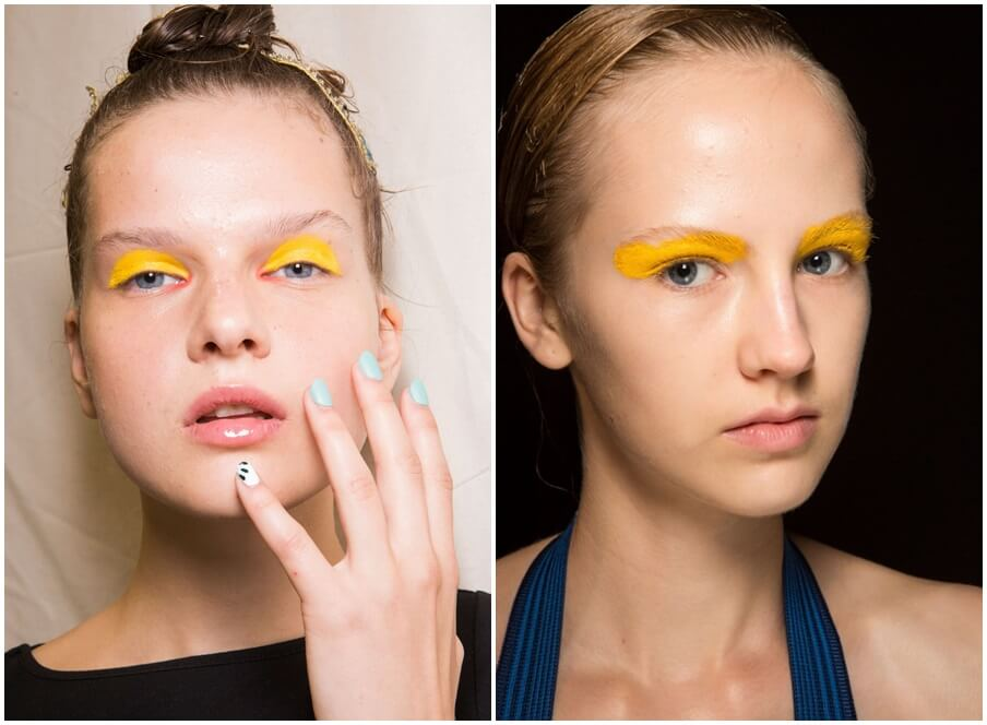 Yellow eye makeup spring 2016 beauty trends by FTG