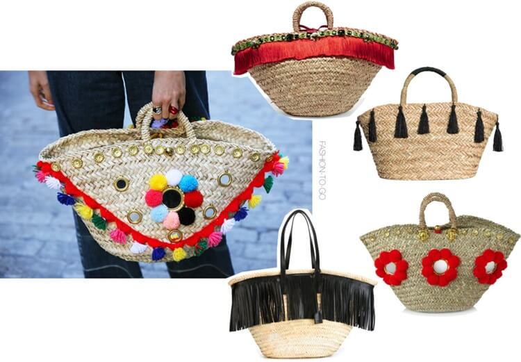 Straw bags summer 2016 trend by FTG: http://www.fashiontogo-ftg.com/mini-trend-embellished-straw-bags/