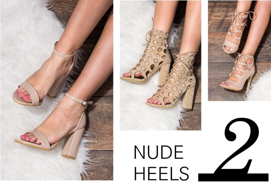 Summer must haves - nude heels by FTG: http://www.fashiontogo-ftg.com/top-5-summer-must-haves/
