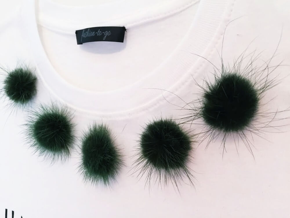FASHION-TO-GO launches online shop, fur pompom shirt - http://www.fashiontogo-ftg.com/fashion-to-go-launches-online-shop/