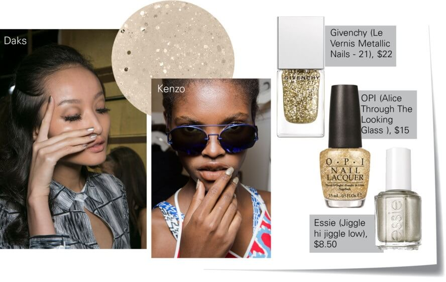 Gold metallics nails color trend for summer by FTG