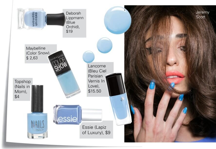 Light blue nails color trend for summer 2015 by FTG