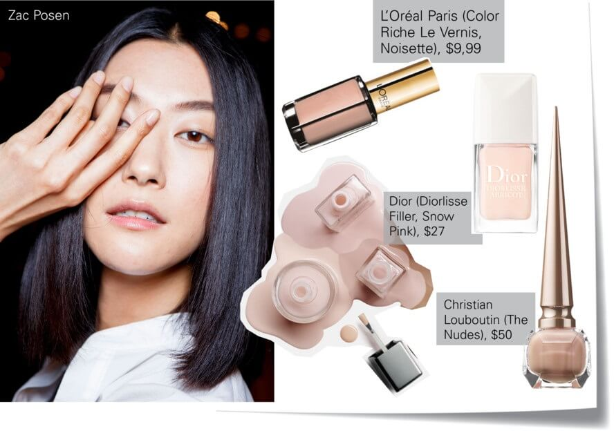 Nude beige nails color trend for summer by FTG