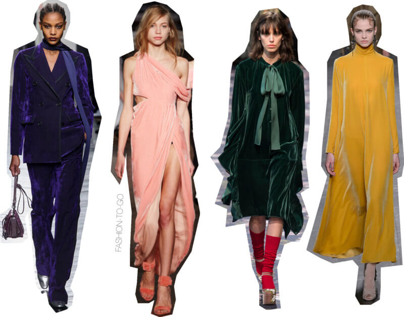 Fw16 fashion runway trends - velvet by FTG