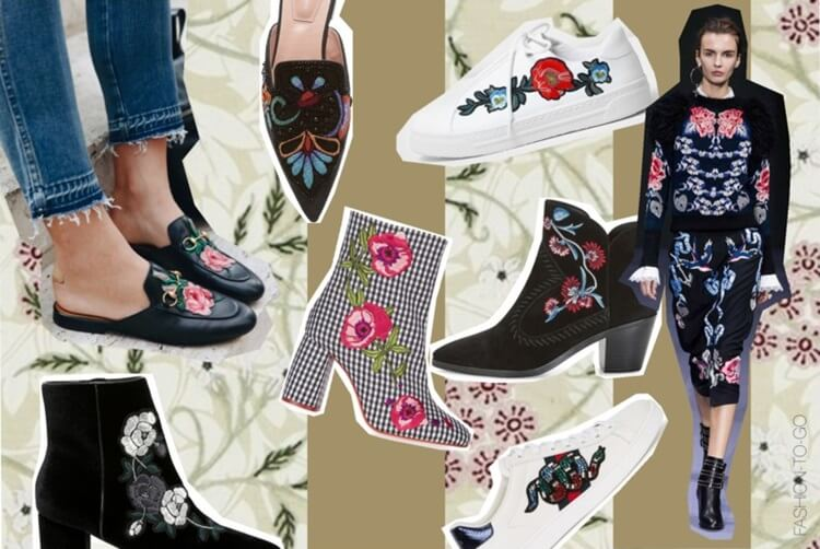 Embroidery shoes 2017 trend by FashionToGo