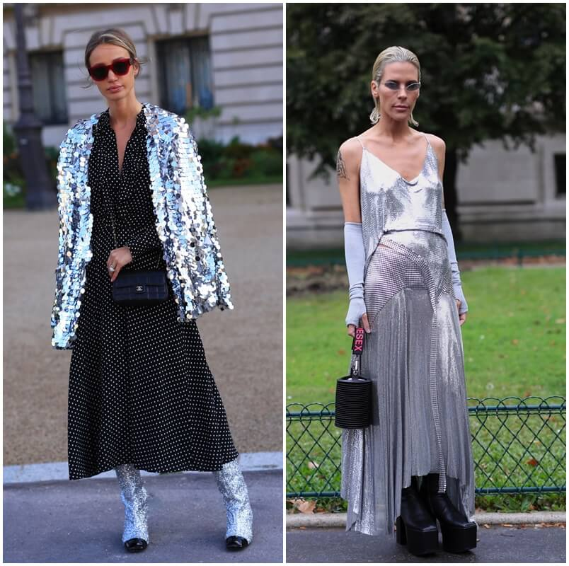 How to wear silver sequins at FTG