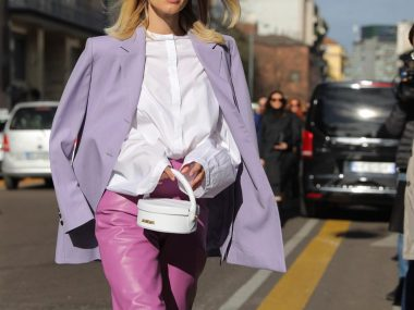 How to wear lilac trend best street style looks