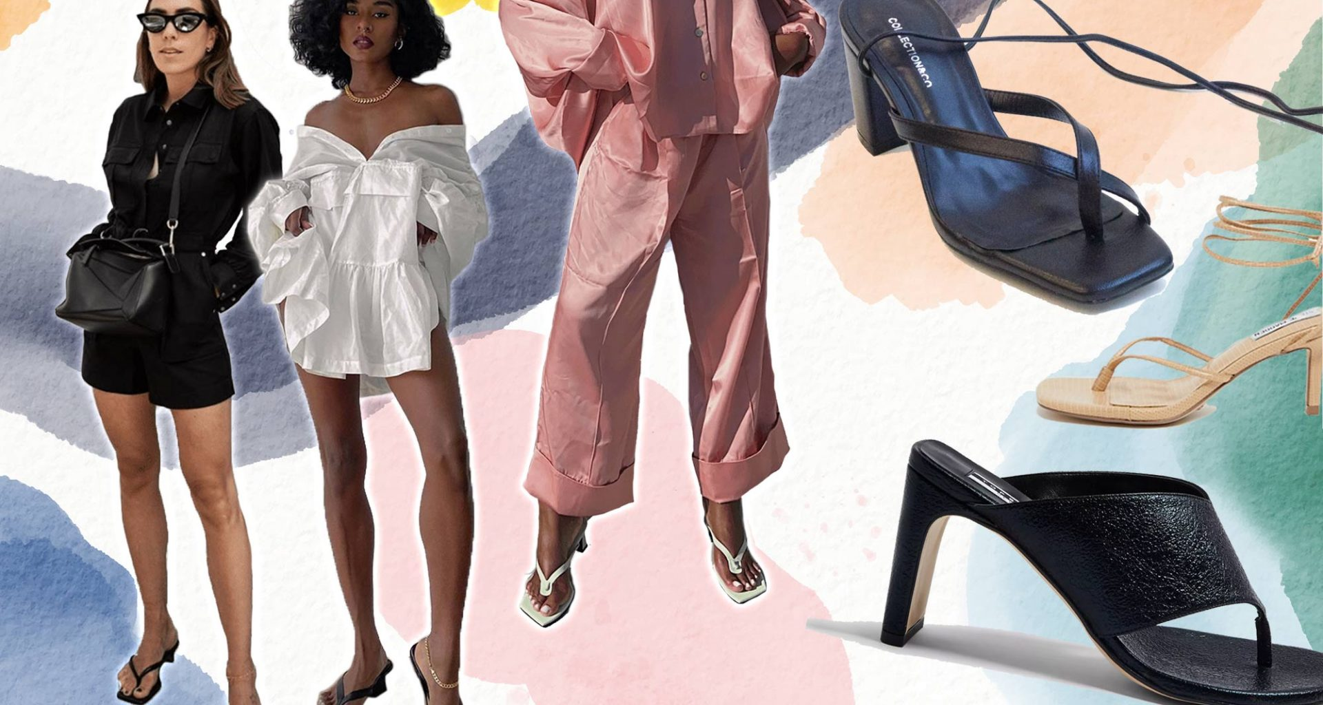 thong sandals trend T bar sandals thong shoes