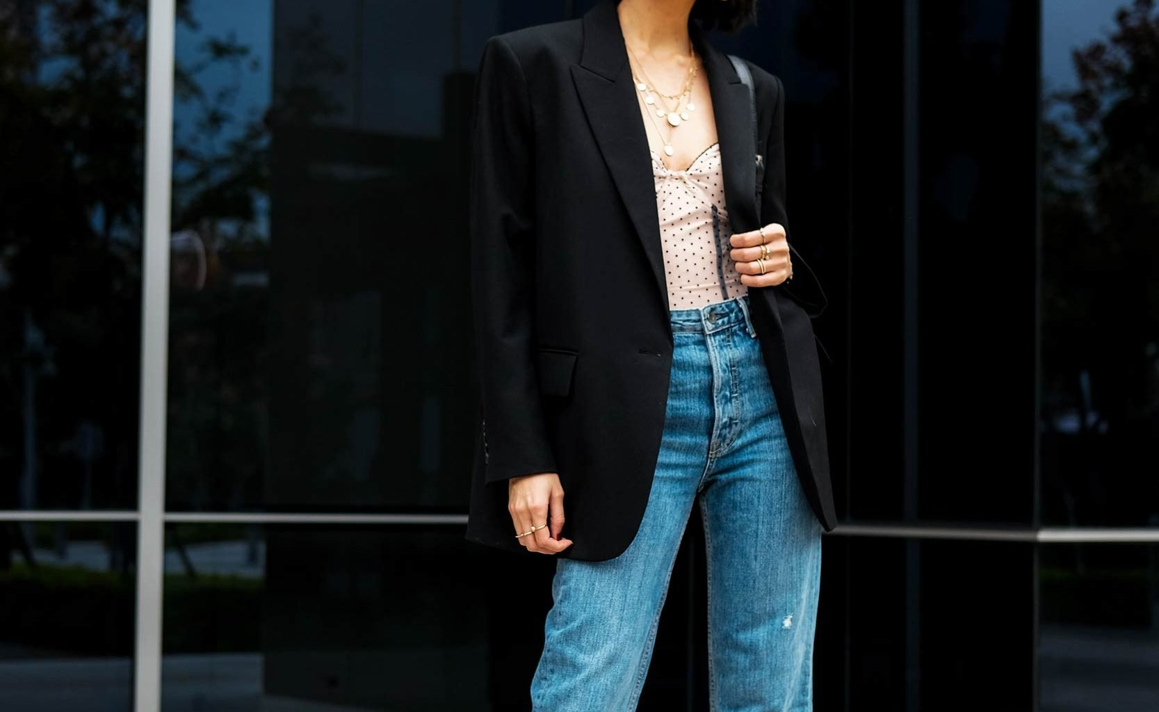 how to wear oversized blazer street style