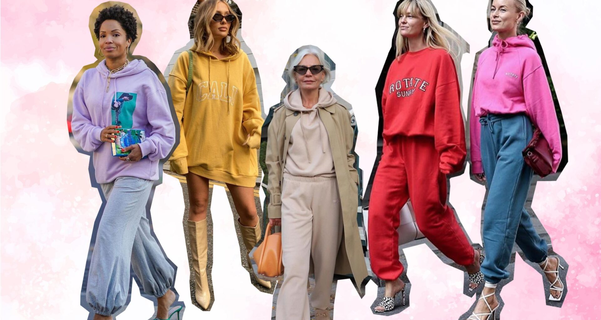 casual dress up sweatpants loungewear street style outfit womens