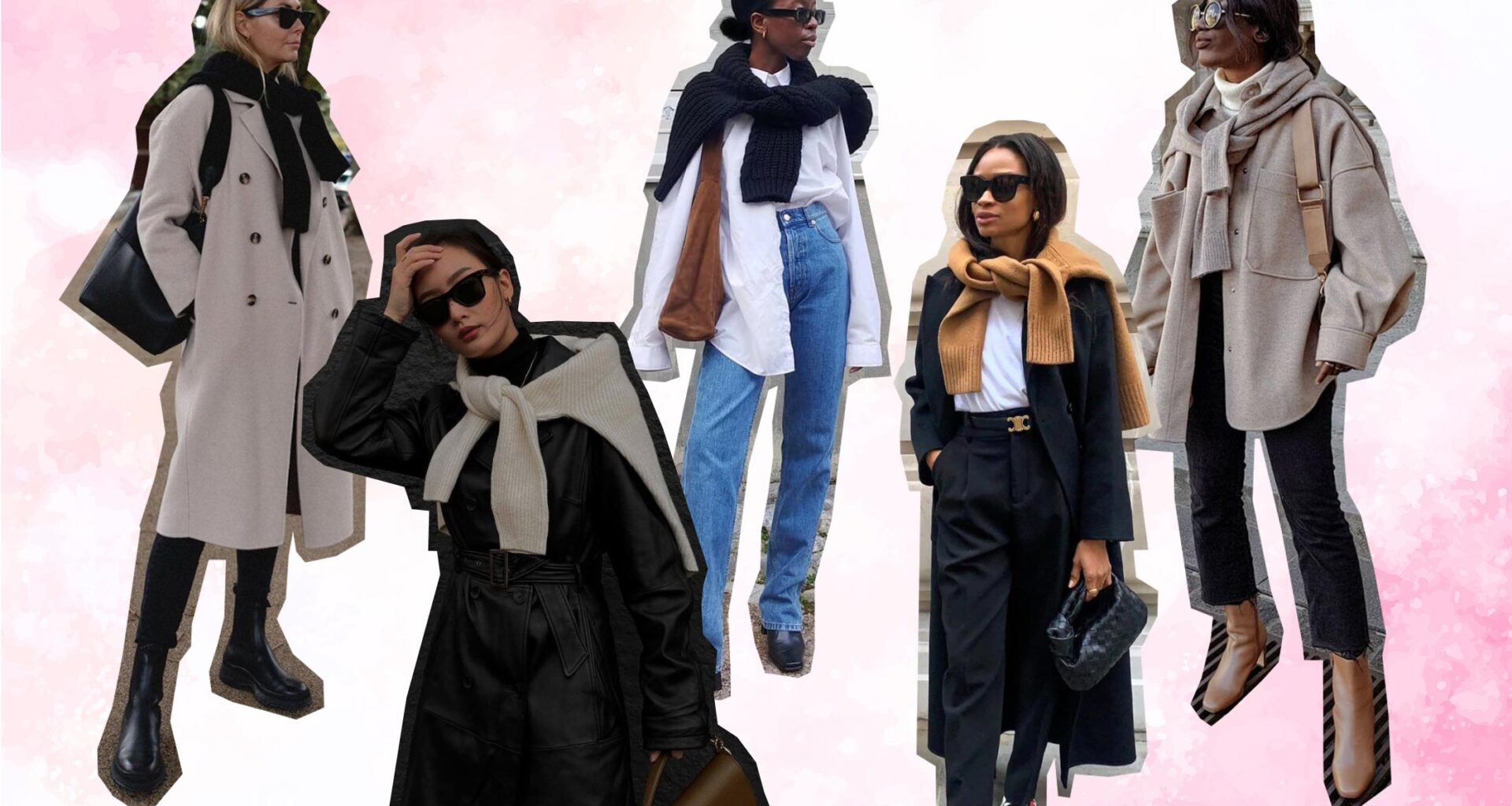 how to wear sweater as a scart street style outfit